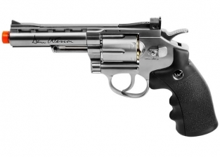 "Dan Wesson 4"" Full Metal CO2 Airsoft Revolver, Silver"