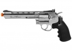 "Dan Wesson 6"" Full Metal CO2 Airsoft Revolver, Silver"