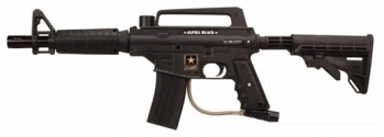 US Army Alpha Black Tactical Paintball Rifle Black