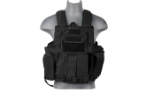 Lancer Tactical CA-303B Tactical Strike Plate Carrier MOLLE PALS Vest - Black