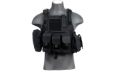 Lancer Tactical CA-305B Tactical Assault Plate Carrier MOLLE PALS Vest - Black