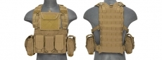 Lancer Tactical CA-307T Tactical Modular Chest Rig - Tan