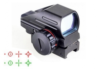 Lion Gears Red Green Tactical Reflex Sight 4-Reticle Sun Shade