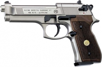 Beretta M92 FS .177 Pellet Pistol Nickel/Wood
