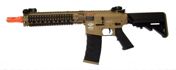 G&G CM18 MOD1 Combat Machine Airsoft Rifle, Tan and Black