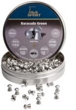 H&N Baracuda Green, Lead Free, .177 Cal, 6.48 Grains, Round Nose, 200ct