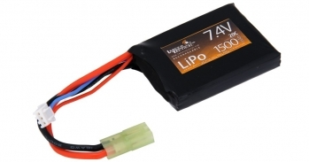 Lancer Tactical 7.4V 1500MAH 20C Lipo Battery - FLAT