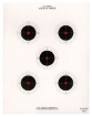 National Target 5-Bull Red Center 10-Meter Paper Targets - 100pk