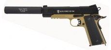 Elite Force 1911 TAC 2-Tone Full Metal CO2 Blowback Airsoft Pistol w/ Gemtech Barrel Extension