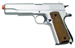 UHC 1911 Airsoft Spring Pistol Silver