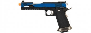 WE Tech 1911 Hi-Capa T-Rex Competition Gas Blowback Airsoft Pistol Blue / Silver