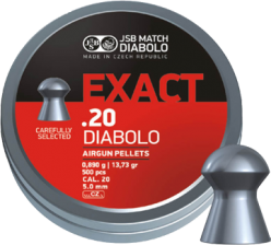 JSB Exact Jumbo .20 Cal, 13.73 Grains, Domed, 500/Tin