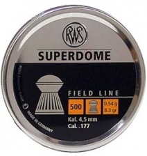 RWS Superdome .177, 8.3 Grains, Domed, 500/Tin